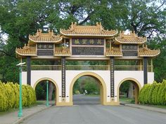 The mountain gate to the City of Ten Thousand Buddhas - Talmage, Mendocino Co. CA. one of the first Buddhist monasteries built in the United States. The temple follows the Guiyang Ch'an School, one of the five houses of classical Chinese Ch'an.