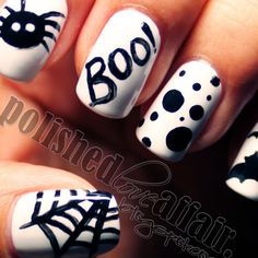 "Halloween ""BOO!"" nails"