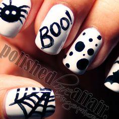"""Halloween """"BOO!"""" nails"""