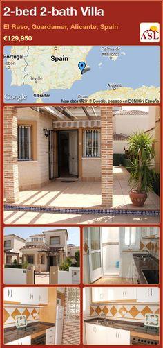 2-bed 2-bath Villa in El Raso, Guardamar, Alicante, Spain ►€129,950 #PropertyForSaleInSpain