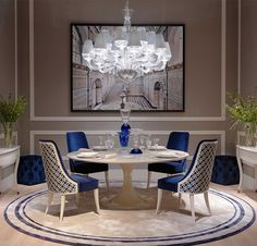 Heritage Collection - Athos table, Chantal chairs and Versailles consoles #Heritage #LuxuryLivingGroup