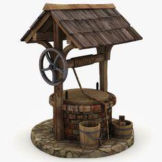 3d model of medieval water