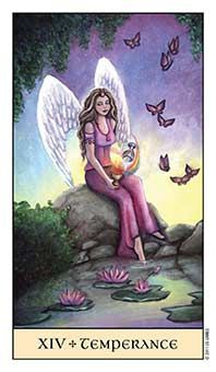 July 7 Tarot Card: Temperance (Crystal Visions deck) Living at the exremes will exhaust your mind and soul. Seek moderation, balance, and calm now...