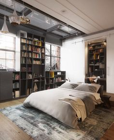 """Mi piace"": 3,655, commenti: 5 - Book Of Interiors (@bookofinteriors) su Instagram: ""New York Loft concept design by Andrew Sadokha #fineinteriors #interiors #interiordesign…"""