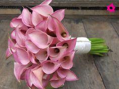 Alcatraces como flores de boda Diy Wedding Bouquet, Diy Bouquet, Wedding Cakes With Flowers, Bride Bouquets, Bridesmaid Bouquet, Cake Flowers, Colorful Flowers, Beautiful Flowers, Arte Floral