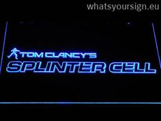 Tom Clancy's Splinter Cell - LED neon light sign made of the best-quality clear plastic and briliant colorful LED glow. The neon sign looks exactly the same from every angle thanks to the carving with the latest 3D laser engraving process. This LED neon sign is a great gift idea! The neon is provided with a metal chain for displaying. Available in 3 sizes in following colours: White, Red, Blue, Green, Yellow, Purple and Orange!