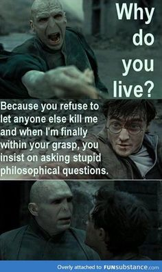 """Get it together, Voldemort. <--- honestly though, for all his """"brilliance"""", Voldemort is really the stupidest wizard alive. (Or dead.) remember what Hermione said in the first book? Ridiculous Harry Potter, Harry Potter Jokes, Harry Potter Fandom, Harry Potter Characters, Fans D'harry Potter, Philosophical Questions, Funny Memes, Hilarious, Lol So True"""