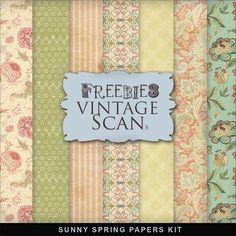 "Far Far Hill: Freebies Kit of Paper - ""Sunny Spring""."