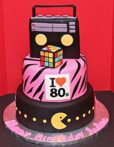 Eighties Cake by Cecy Huezo and Marina Lamb .   www.delightfulcakesbycecy.com