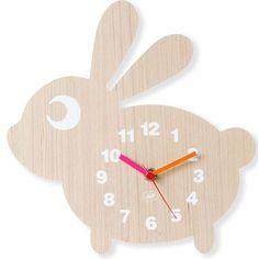 Horloge murale pour enfants motif lapin