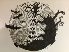 Happy Halloween #fun #Design #carefordesigning #pen #halloween #inktober