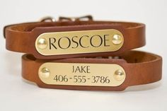 Dog Collar by DogGoneNice (Etsy) What a distinguished collar!