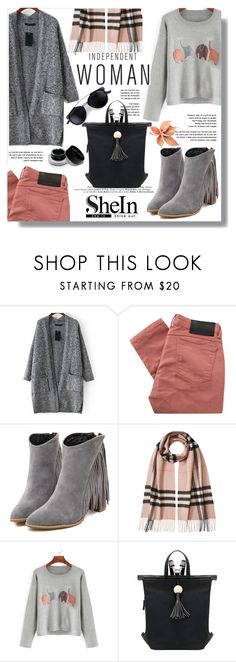 """""""Hijab"""" by sans-moderation ❤ liked on Polyvore featuring Religion Clothing, Burberry, grey, hijab and shein"""