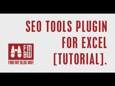SEO Tools Plugin for Excel [Tutorial]