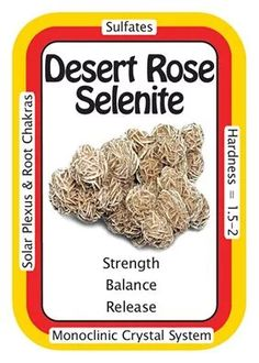 """Crystal Card of the Day: Desert Rose Selenite, """"I release all limitations that I've placed upon myself."""" Desert Roses are said to contain a spirit guardian, and each one is different. Crystals Minerals, Rocks And Minerals, Crystals And Gemstones, Stones And Crystals, Natural Gemstones, Gem Stones, Chakra Crystals, Chakra Stones, Healing Crystals"""