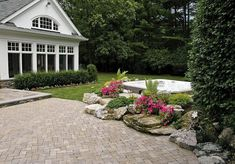 do you like this built in look for a hot tub surround, gardening, outdoor living, patio, pool designs, spas, Landscaped Hot Tub surround at the edge of a paver patio