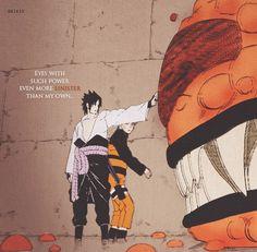 Naruto, Sasuke and Kurama.