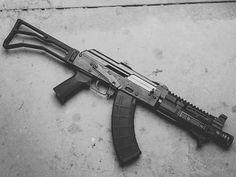 Slr Billet HG and Stock on a Zavastava M92