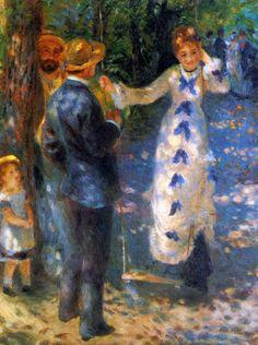 The Swing (La Balançoire), Renoir oil on canvas, Musée d'Orsay, Paris Pierre Auguste Renoir, Renoir Paintings, Paintings I Love, August Renoir, Grafiti, Post Impressionism, Famous Art, Oil Painting Reproductions, Claude Monet