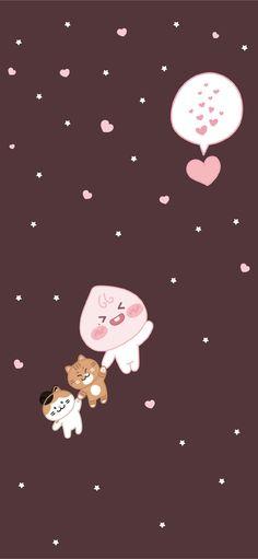 Peach Wallpaper, Korea Wallpaper, Cute Pastel Wallpaper, Wallpaper Backgrounds, Iphone Wallpaper Kawaii, Aesthetic Iphone Wallpaper, Disney Wallpaper, Cartoon Wallpaper, Apeach Kakao