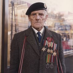 Remembrance Poppy seller, Stockport, Greater Manchester, United Kingdom, 1965-75, photograph by Shirley Baker.