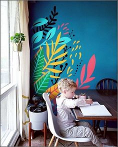Do you love the look of colorful murals, but don't have a huge wall to use? I'm now offering MINI MURALS! Add a custom designed splash of color to any… – Renovation Kids Wall Murals, Mural Wall Art, Mural Painting, Murals For Kids, Paintings, Bedroom Murals, Bedroom Wall, Diy Bedroom, Room Interior