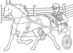 thoroughbred coloring pages - photo#29