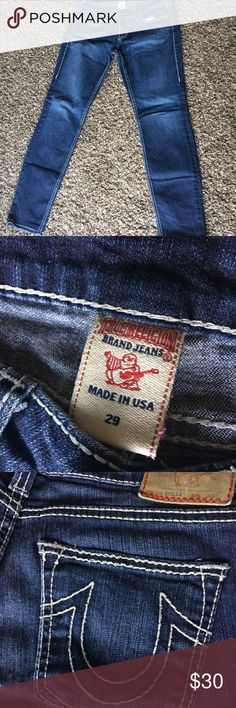 True Religion Denim jeans Good condition. Im 5'8 and i had it altered to fit my height. True Religion Jeans Skinny