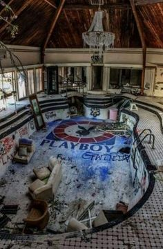 "abandonedandurbex: ""Abandoned Swinger's Tiki Palace overlooking Chattanooga. "" abandonedandurbex: ""Abandoned Swinger's Tiki Palace overlooking Chattanooga. Abandoned Buildings, Abandoned Property, Abandoned Castles, Abandoned Mansions, Old Buildings, Abandoned Places, Abandoned Ships, Abandoned Prisons, Abandoned Amusement Parks"