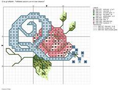 alfabeto azzurro con le rose classico: Q
