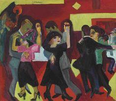 blastedheath:  Ernst Ludwig Kirchner (Gerrman, 1880-1938), Tangotee, 1919-21. Oil on canvas, 70.5 x 80.4 cm.