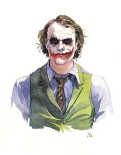 Heath Ledger (The Joker) by Chad Gowey, via Behance