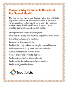 #Exercise Is Beneficial For #SexualHealth