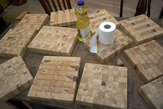 Woodworking How To How to make your own butcher blocks - simple and gorgeous. End Grain Cutting Board, Diy Cutting Board, Wood Cutting, Butcher Block Cutting Board, Wooden Projects, Wood Crafts, Diy Crafts, Bois Diy, Got Wood