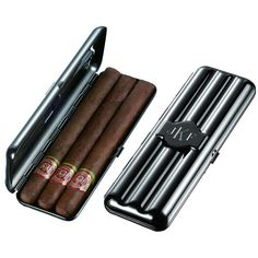 Visol Volker Triple Gun Finish Cigar Case