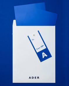 ADER AderSpace # Shop # Price Tag Design, Catalogue Layout, Print Design, Logo Design, Stationary Design, Envelope Design, Ader, Communication Design, Margiela