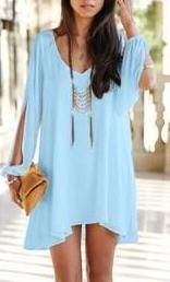 Women's Long Sleeve Chiffon Dress