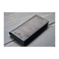 Оригинальное дизайнерское портмоне из натуральной черной кожи класса люкс в  подарок. Изделие складывается пополам, 935c0e828e1