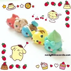 I made some Disney Tsum Tsum inspired Pokémon charms! These are super duper tiny. ( •ω•ฅ).。.:*♡ nerdylittlesecrets.com