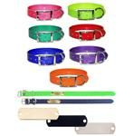 SunGlo Personalized Engraved Name Plate Dog Collar