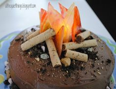 how to make a campfire cake | Well, there you go - our campfire cake!! We really thought it turned ...