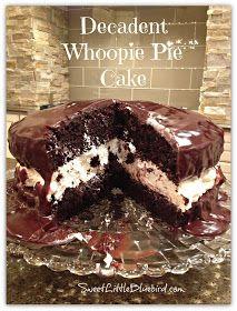 Whoopie Pie Cake // SweetLittleBlueBird.com - #WhoopiePie