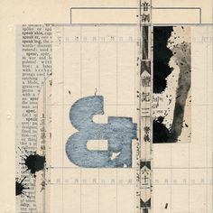 Janet Jones: Notations #31 - Janet Jones's work is in the collection of the International Museum of Collage, Assemblage and Construction - collagemuseum.com
