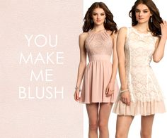 Camille La Vie Blush Pink short dresses for homecoming or any fashion party