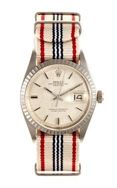 Shop 1967 Rolex Stainless Steel Datejust With Linen Dial by CMT Fine Watch and Jewelry Advisors - Moda Operandi