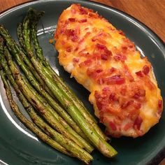 Dinner was cheddar bacon ranch chicken and asparagus cooked in bacon grease. #keto #ketogenic #ketosis #lowcarb #lchf #eatclean #healthyliving #fitness #fitmom - Inspirational and Motivational Ketogenic Diet Pins - Eat Keto Get Into Nutritional Ketosis - Discover LCHF to Prevent Diseases - Enjoy Low-Carb High-Fat Lifestyle For Better Health