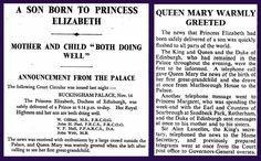 14th November 1948 - Birth of Prince Charles