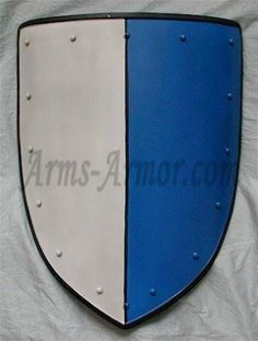 Coat of arms, white/blue