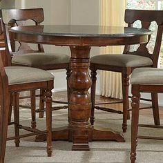 A-America Andover Round Dining/Counter Height Dining Table