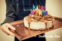 "Today is "" Deviliciously Raw "" 1st Birthday! I am so thankful for our readers & followers and my family for supporting me. A big thank you to all! Nutty Chocolate Lava Cake - Click for more recipes http://www.facebook.com/deviliciouslyraw and don't forget to hit ""Like"", click on ""Share"" with your FB homies. #raw #vegan #rawbirthdaycake #chocolate #chocolatecake #homemade #eatrealfood #healthylifestyle #wholesome #rawfooddublin #nourishing #recipestoshare #bestofvegan #deviliciouslyraw"
